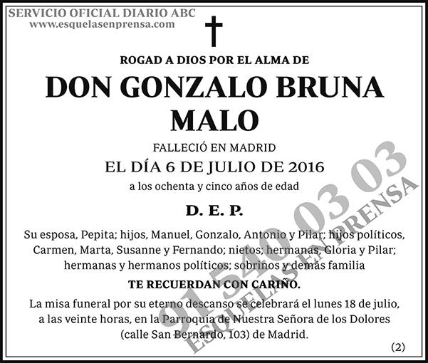 Gonzalo Bruna Malo